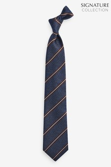 Silk Signature Stripe Tie