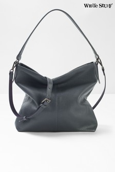 White Stuff Grey Emma Leather Hobo Bag