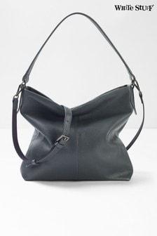 Sivá kožená kabelka White Stuff Emma