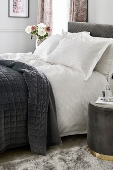 Textured Jacquard 100% Cotton Duvet Cover And Pillowcase Set