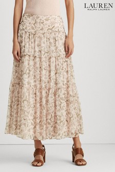 Lauren Ralph Lauren® Pink Floral Pauldina Maxi Skirt