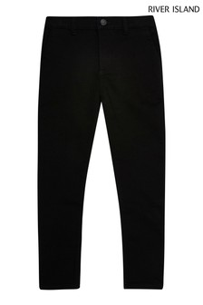 River Island Black Smart Skinny Trousers