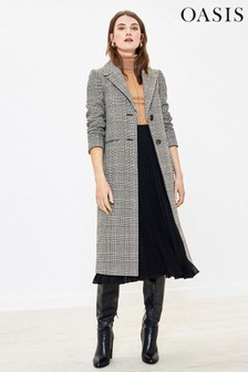Oasis Grey Check Car Coat