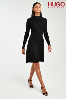 HUGO Black Sumeeya Knitted Dress