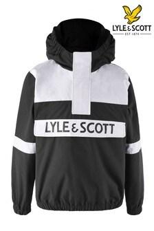 Lyle & Scott Boys Black Oth Hoodie Windcheater Jacket