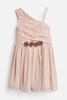 One Shoulder Chiffon Dress (3-16yrs)