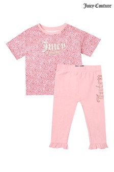 Juicy Couture Branded T-Shirt & Leggings Set