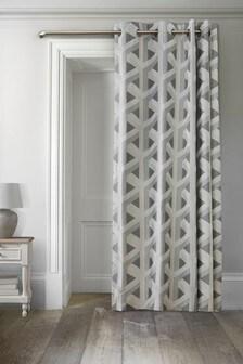 Optical Geo Jacquard Eyelet Door Curtains