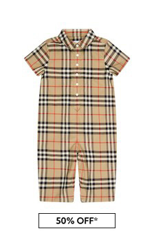 Burberry Kids Baby Boys Beige Cotton Shortie