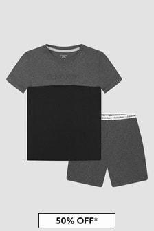 Calvin Klein Underwear Boys Grey Cotton Pyjamas