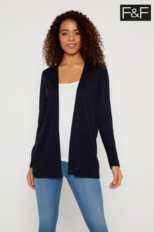 F&F Navy Klosters Button Cardigan