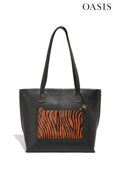 Oasis Animal Leather Tiger Tote Bag