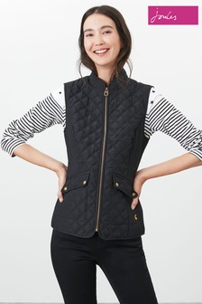 Joules Black Minx Quilted Gilet