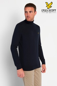 Lyle & Scott Dark Navy Roll Neck Jumper