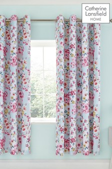 Flower Patchwork Lined Eyelet Curtains by Catherine Lansfield