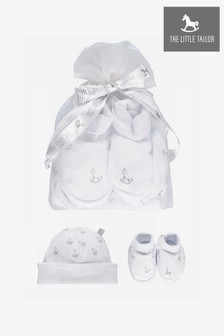 The Little Tailor White Baby Rocking Horse Gift Set