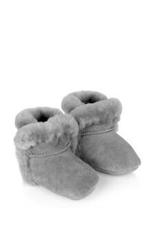 Grey Lassen Baby Booties