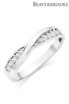 Beaverbrooks 9ct White Gold Cubic Zirconia Ring
