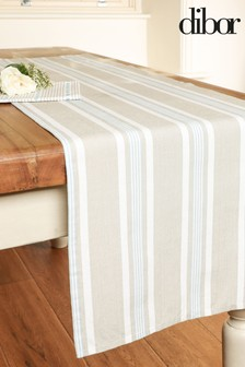 Millstone Blue Striped Table Linen Set by Dibor
