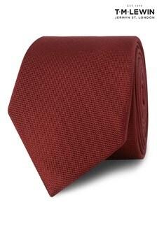 T.M. Lewin Burgundy Textured Silk Tie