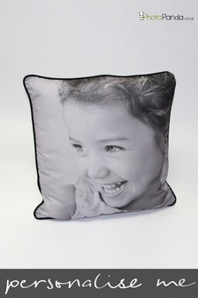 """Personalised 24x24"""" Piped Double Sided Photo Cushion By Photo Panda"""