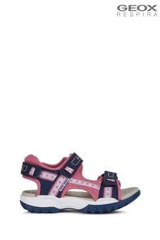 Geox Girl's Borealis Blue Sandals