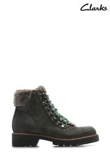 Clarks Grey Velma Hiker Boots