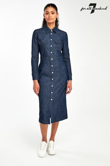 7 For All Mankind Indigo Denim Dress
