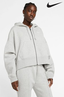 Nike Essential Fleece Oversized Zip Through Hoodie