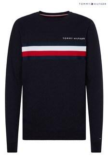 Tommy Hilfiger Blue Global Stripe Sweatshirt