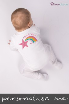 Personalised Born t Shine Sleepsuit by Loveabode