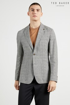 Ted Baker Grey Bonsai Pow Check Blazer