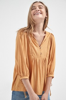 Textured Overhead Blouse