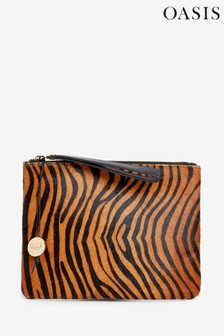 Oasis Natural Tiger Leather Pouch