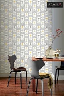Arthouse Retro Flower Wallpaper