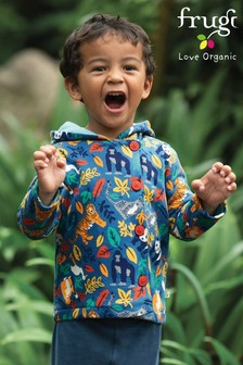 Frugi Organic Jacket With A Hood In Endangered Species Print