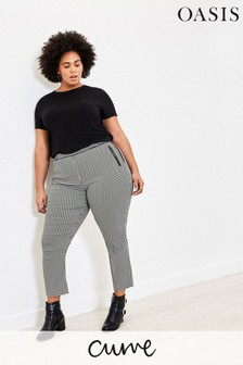Oasis Natural Curve Dogtooth Trousers