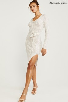 Abercrombie & Fitch White Sweat Dress