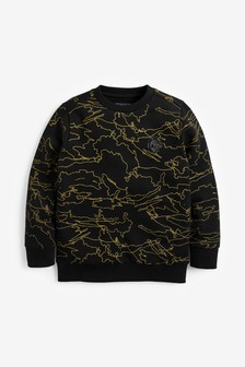 All Over Print Crew Neck Sweater (3-16yrs)