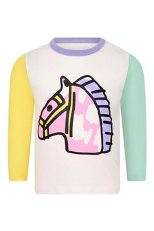 Baby Girls Colourblock Horse Print T-Shirt