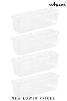 Set of 4 Crystal CD Shallow Shelf Boxes by Wham