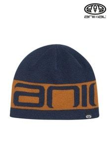Niebieska dzianinowa czapka Animal Addam