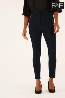 F&F Teal Geo Trousers