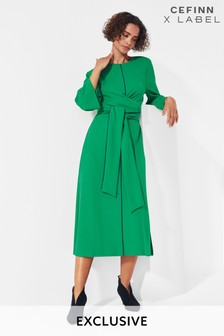 Mix/Cefinn Tie Waist Jersey Dress