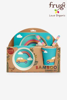 Frugi Children's 5 Piece Bamboo Dinner Set Rainbow Design