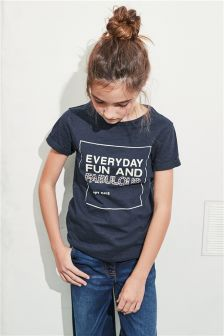 Stud Slogan T-Shirt (3-16yrs)