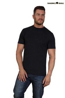 Черная фирменная футболка Raging Bull
