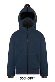 Boys Navy Zip Up Top With Lenses