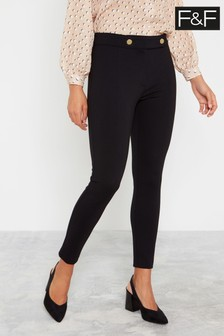 F&F Black Ponte Trousers