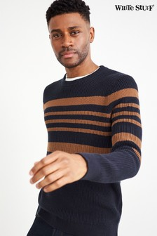 Corrdon Block Stripe Crew Neck Jumper